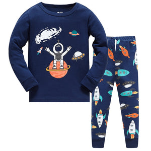 Hello Spaceman Kids Pajamas Set Childrens Sleepwear Just Kidding Store