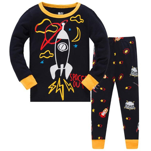 Space Out Kids Pajama Set Childrens Sleepwear - Just Kidding Store