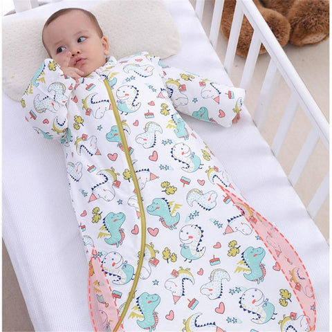 Organic Cotton Baby Children Sleeping Bag Detachable Sleeves Sleep Envelope - Just Kidding Store