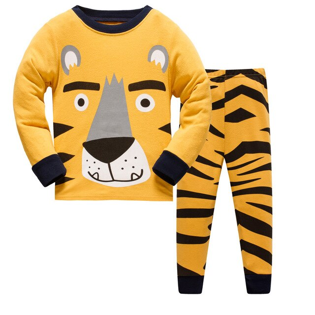 Lion Kids Pajama Set - Childrens Sleepwear - Just Kidding Store