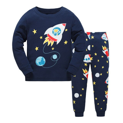 Outer Space Kids Pajama Set Childrens Sleepwear - Just Kidding Store