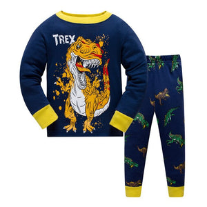 T-Rex Kids Pajama Set Children Sleepwear - Just Kidding Store
