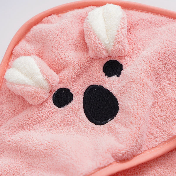 Little Bear Hooded Velvet Towel
