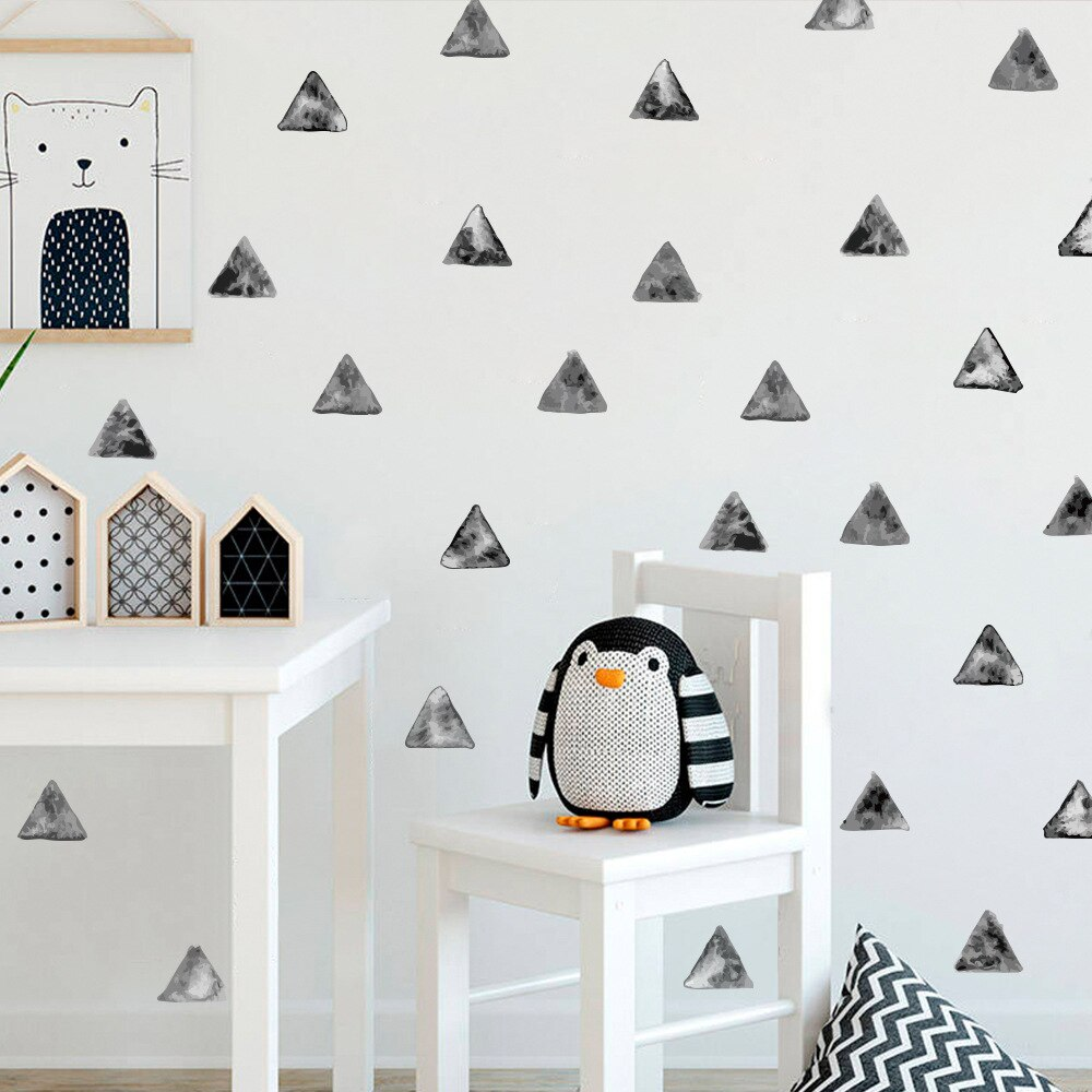 Watercolor Triangles Wall Decal Nursery Stickers - Just Kidding Store