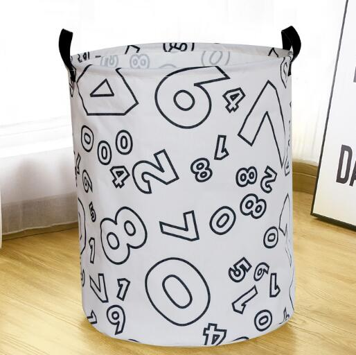 Monochrome Toy Storage Hamper Basket - Laundry Barrel - Just Kidding Store