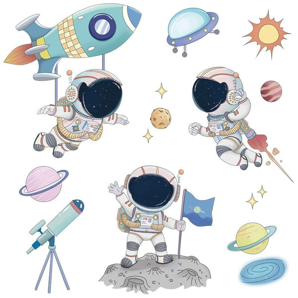 Space Travel Wall Stickers Mini Astronaut Decal - Just Kidding Store