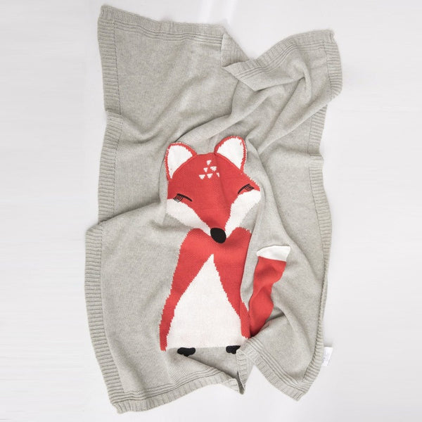 Pure Cotton Blanket - Red Fox - Just Kidding Store