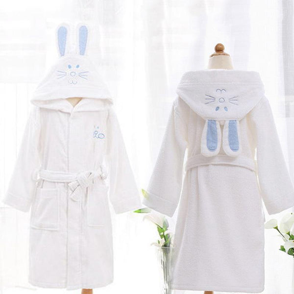 White Bunny babies and kids bathrobes - Just Kidding