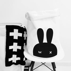 Folding Cotton Canvas Storage Bag - Miffy Bunny - Just Kidding Store