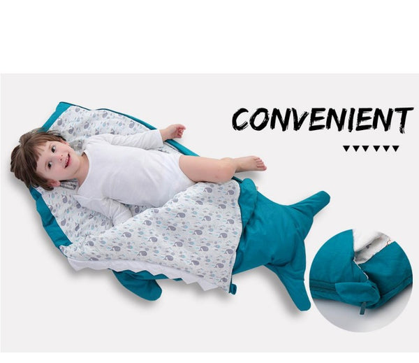 Children Sleeping Bag - Kids Cotton Sleep Sack - Comfy Shark