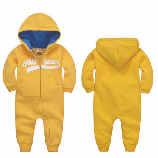 Long Sleeve Hooded Baby Toddler Trendy Rompers - Just Kidding Store
