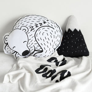 Sleepy Bear Cushion - Decorative Pillow - Just Kidding Store