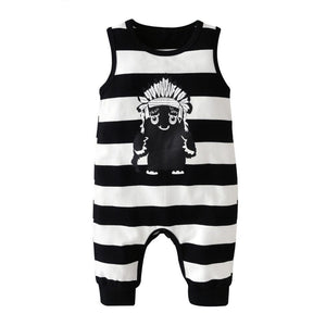 Tribal Monster Summer Baby and Toddlers Romper - Just Kidding Store