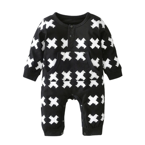Cross Print Baby and Toddlers Fashion Romper - Just Kidding Store