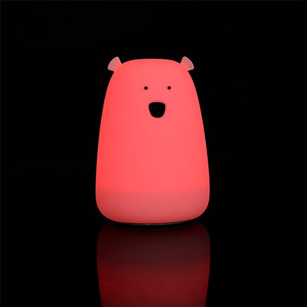 Bear Night Light - Tap Control Nursery Color Changing Lamp - Just Kidding Store