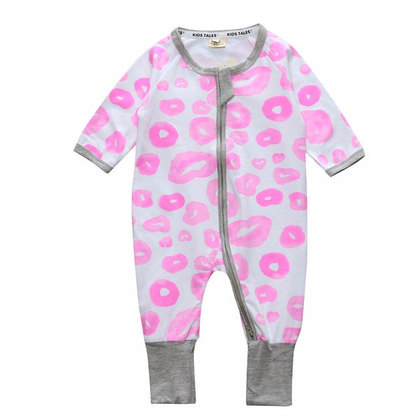 Pink Spots Baby and Toddlers Romper - Just Kidding Store