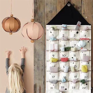 Wall Hanging Calendar Kids Storage 24 Pockets Bag - Just Kidding Store