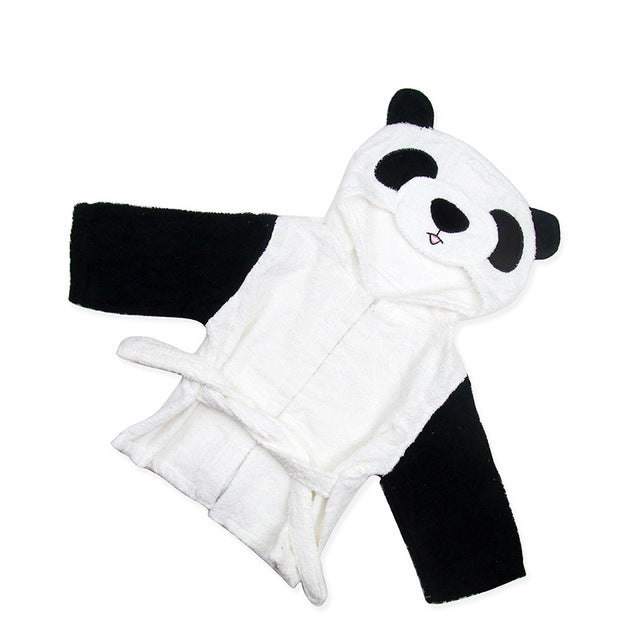 Baby Hooded Bathrobe - Panda - Just Kidding Store