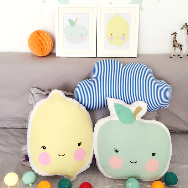 Kids Decorative Cushions Apple, Lemon, Ice Cream - Just Kidding Store