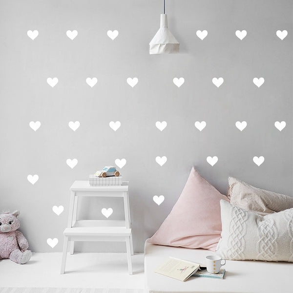 Love Hearts Wall Stickers Kids Wall Decal Vinyl - Just Kidding Store