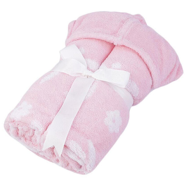 Cotton Bath Towel - Children's Bath Wrap - Pink
