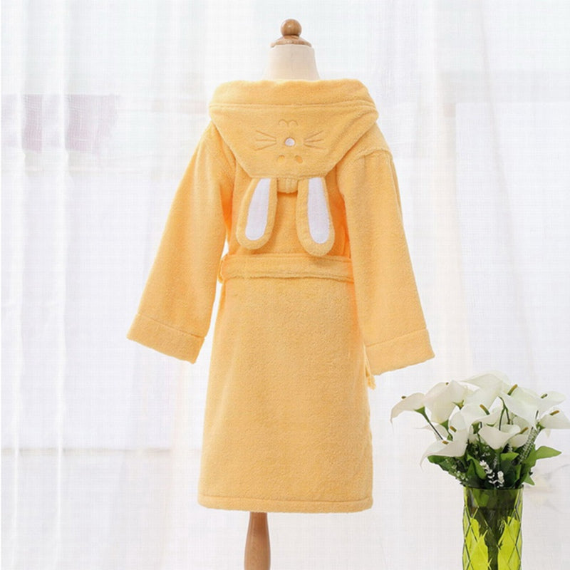 Orange Bunny Ears Kids Bathrobe Gown - Just Kidding Store