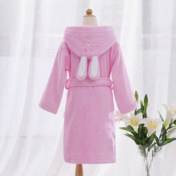 Pink Bunny Ears Kids Bathrobe Gown - Just Kidding Store