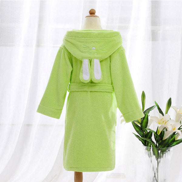 Green Bunny Ears Kids Bathrobe Gown - Just Kidding Store