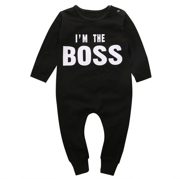 I'm The Boss Baby Toddler Trendy Fashion Romper - Just Kidding Store