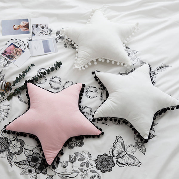 Star Pom Pom Pillow - Kids Room Deco - Just Kidding Store