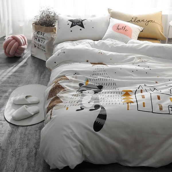 Raccoon Kids and Teens Bedding Set - Just Kidding Store