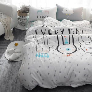 Every Day Bunny Kids and Teens Bedding Set - Just Kidding Store