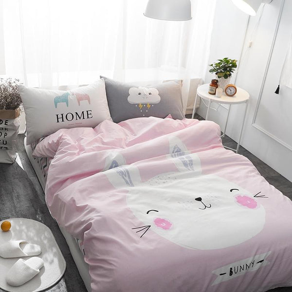White Bunny kids and Teens Bedding Set - Just Kidding Store