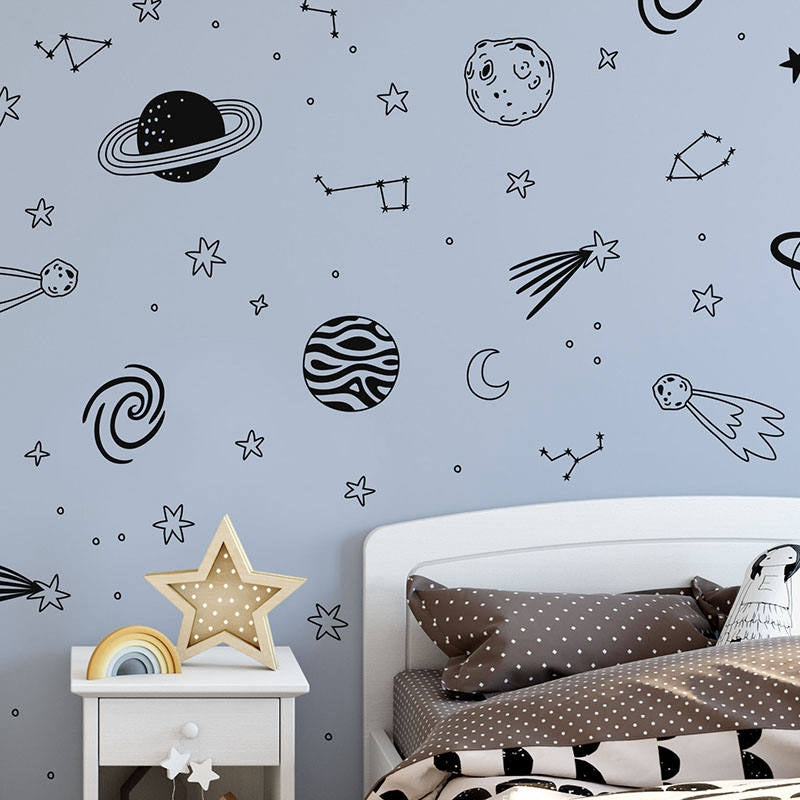 Universe Wall Decals - Kids Space Wall Stickers - Just Kidding Store