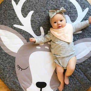 Kids Elk Play Mat - Baby Reindeer Play Mat - Just Kidding Store