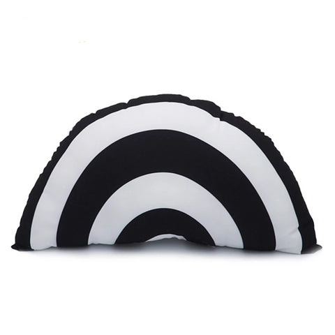 Black and White Striped Sunshine Watermelon Pillow - Just Kidding Store