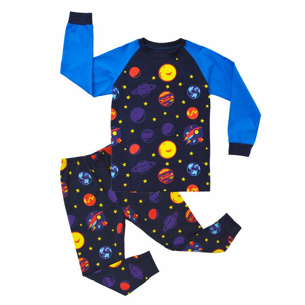 Planets Sleepwear Set -Kids Pajamas - Just Kidding Store