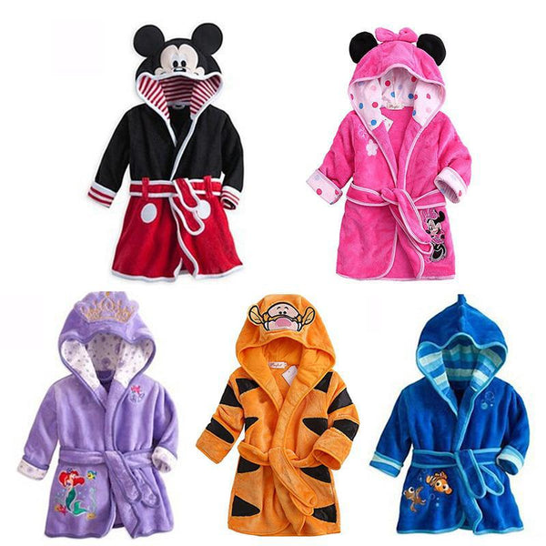 Disney characters babies and kids bathrobes - Just Kidding