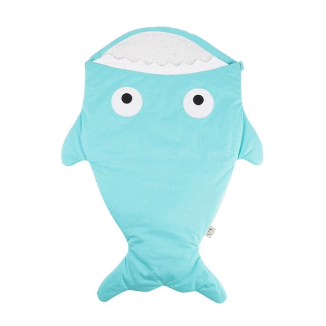 Blue Baby Shark Sleeping Bag - Stroller Sack