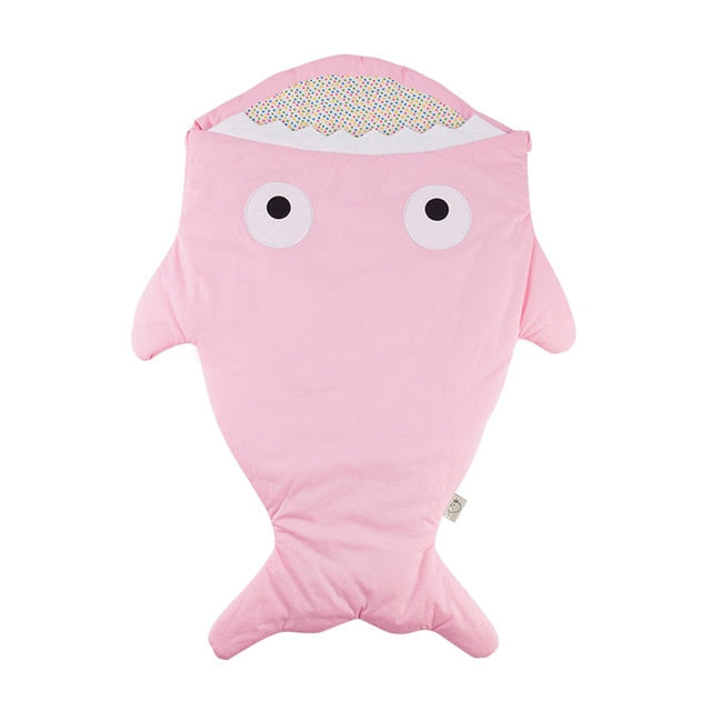Pink Baby Shark Sleeping Bag - Stroller Sack
