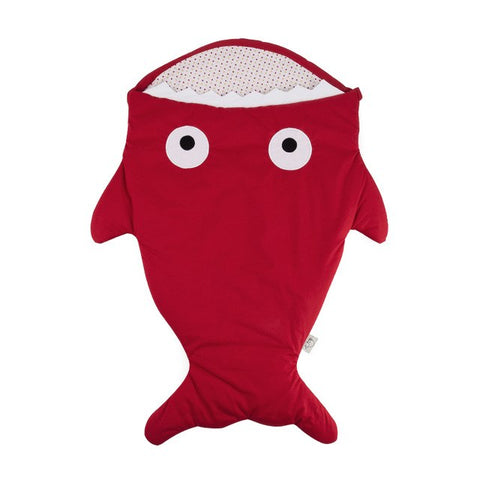 Red Baby Shark Sleeping Bag -  Cotton Stroller Sack
