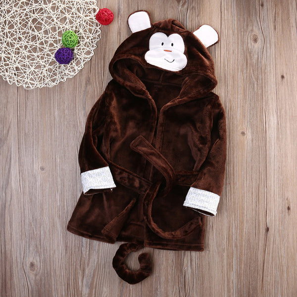 Monkey babies and kids bathrobe nightgown - Just Kidding Store