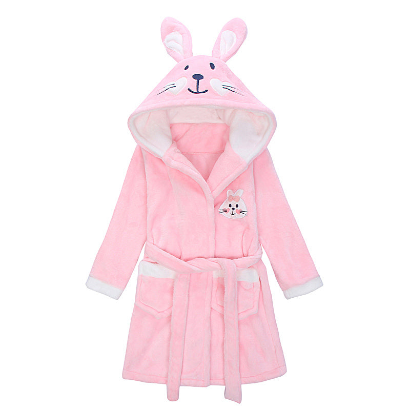 Pink Bunny toddlers and kids bathrobe - Just Kidding Store