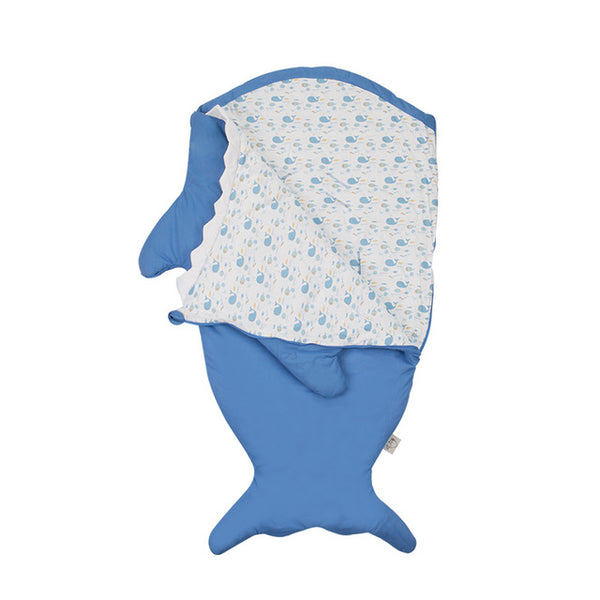 Children Sleeping Bag - Kids Cotton Sleep Sack - Comfy Shark - Just Kidding