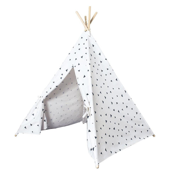 Black Triangles Teepee - Four Poles Kids Tent