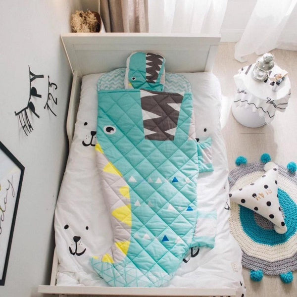 Kids Sleeping Bag - Big Dinosaur - Just Kidding Store