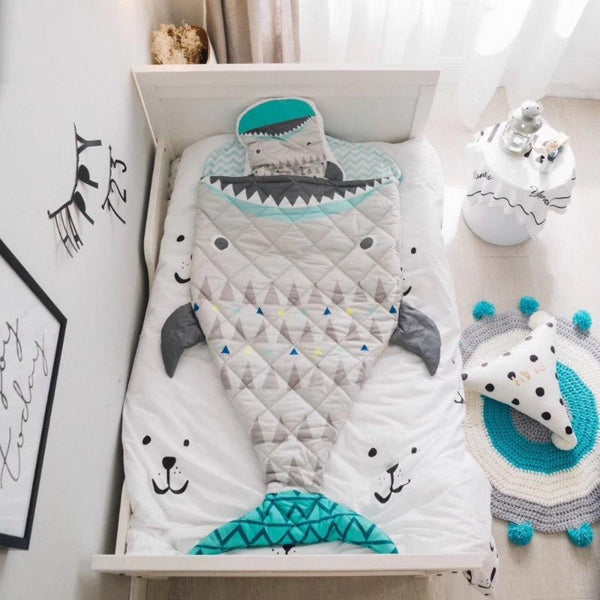 Kids Sleeping Bag - Sleeping Sack Big Shark - Just Kidding Store