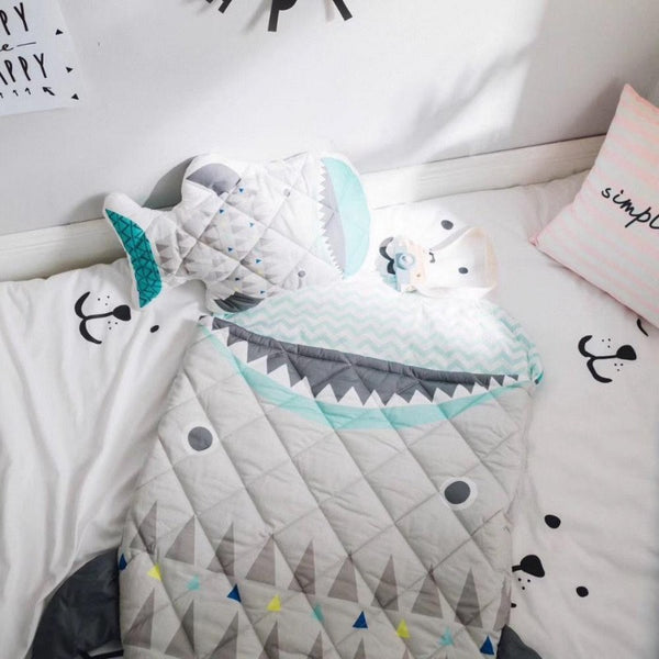 Kids Sleeping Bag - Big Shark - Just Kidding Store