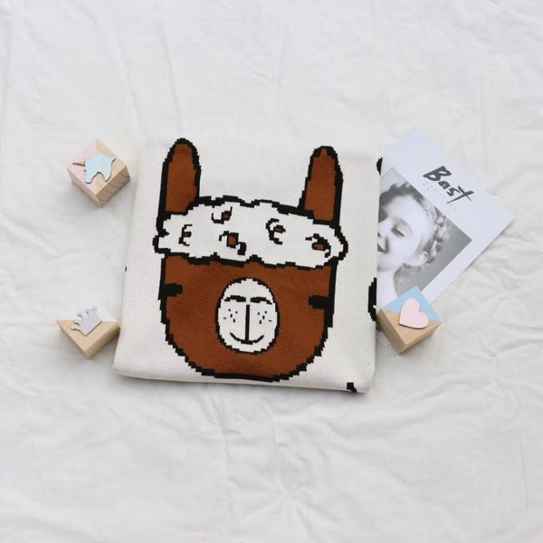 Soft Knitted Alpaca Blanket - Just Kidding Store
