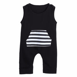 Striped Pocket Romper - New Trendy Baby Rompers - Just Kidding Store
